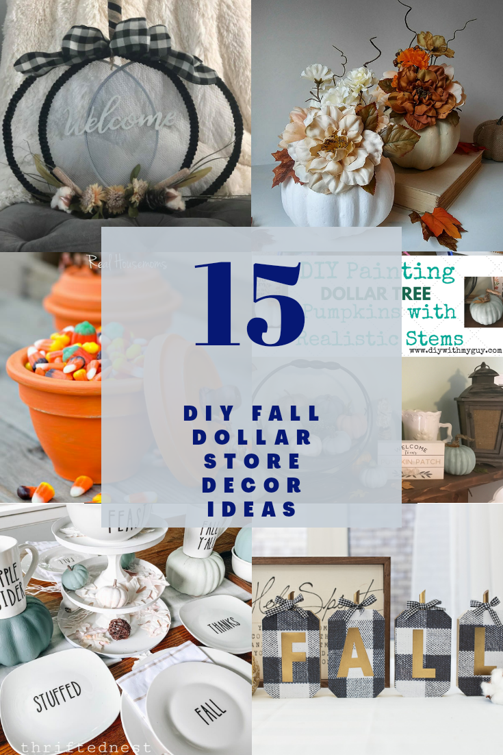 20 DIY Fall Decor Ideas from Dollar Tree Items   Life as a LEO Wife